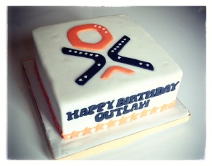 Outlaw Triathlon Birthday Cake