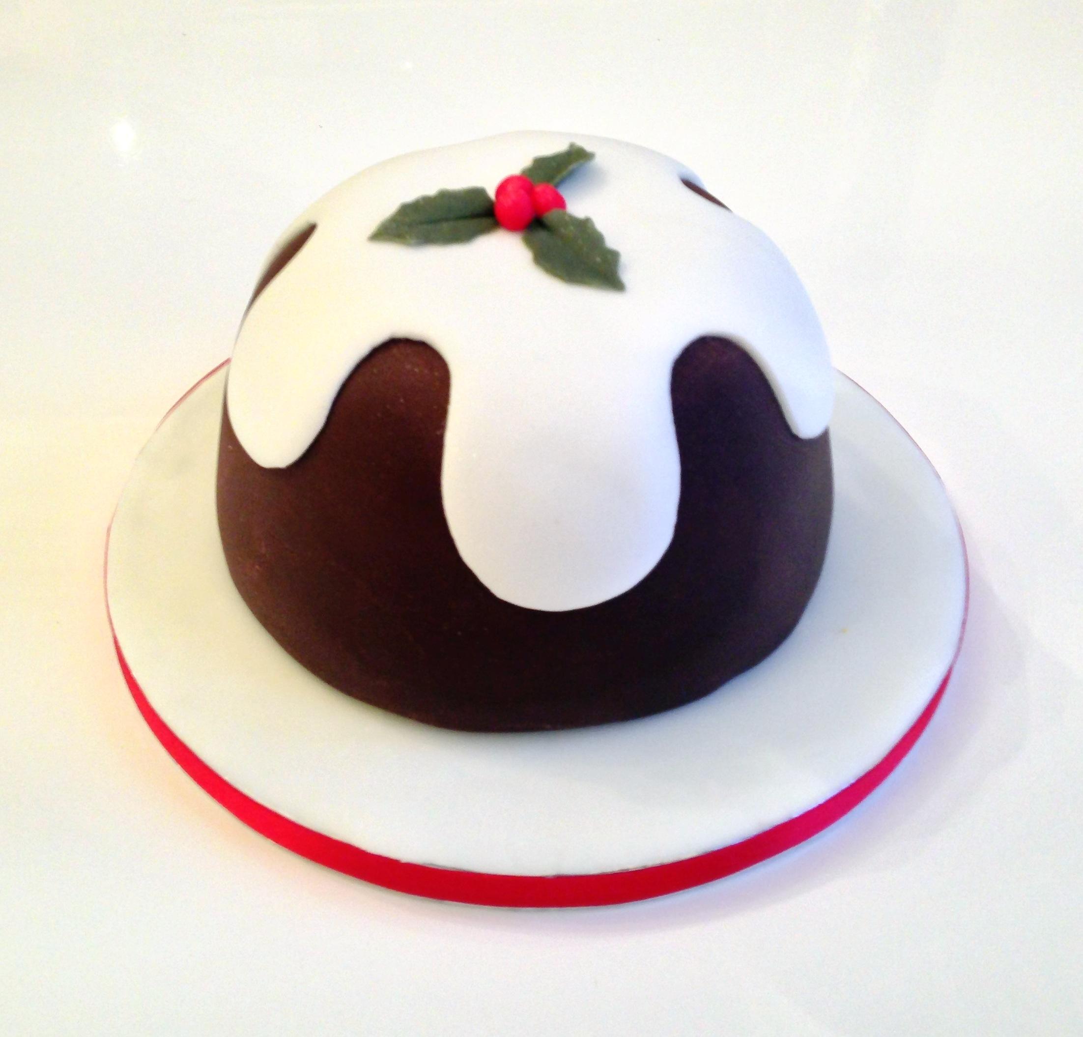 Christmas Pudding Cake The Fondant Fancy